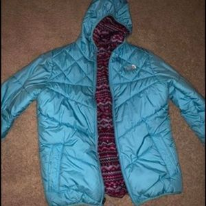 Girls North Face Reversible Jacket